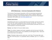 Common APA Examples