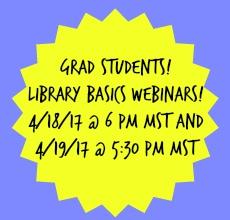 webinar for grad students