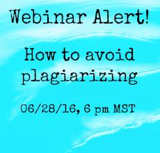Plagiarism Webinar Alert