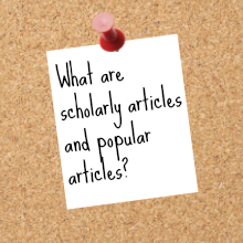 scholarly and popular articles tutorial